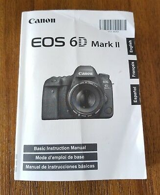 EOS 6D Mark II DSLR Camera Manual Instructions English *Original*