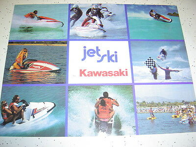 1988 Kawasaki Jet SKI  NOS Sales Brochure 2 Pages.