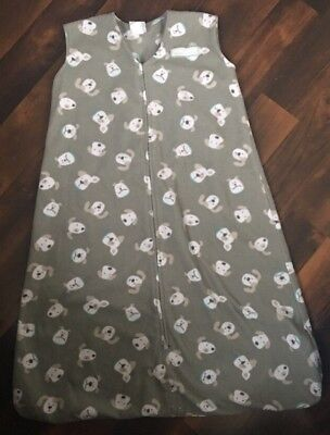 Halo Sleep Sack Size XL 18-24 Months Gray Fleece Dog Puppies EUC