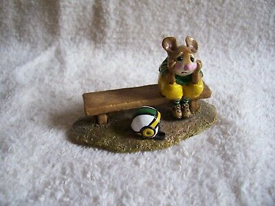 Wee Forest Folk MS-17 BENCHED!  Mole Hole SPECIAL EDITION White Helmet  Mint