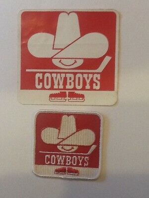 WHA Calgary Cowboys Decal & Crest