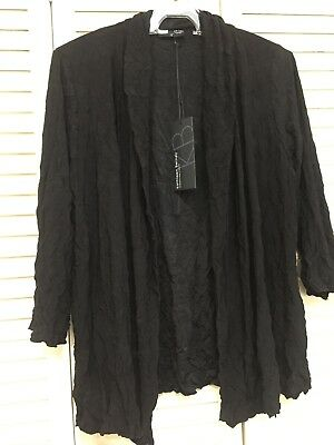 REDUCED BNWT  - Kathleen Berney Black Jacket /Cardi  Size XL  + Bonus Top.