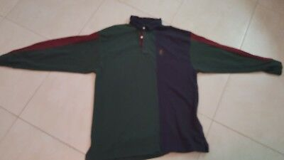 a193ceff05e Vintage Chaps Ralph Lauren Mens Long Sleeve Polo Rugby Shirt L Multi Color  Block