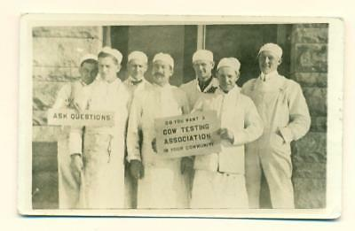 1918 CANTON OHIO OCCUPATIONAL BUTCHER S w POLITICAL SIGN COW TESTING ASSOCIATION