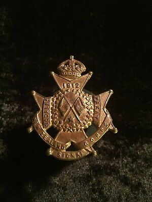 New Zealand Pre- WW1 1912 New Zealand Signal Corps Cap Badge
