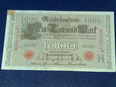 Germany - 1000 Mark 1910 -  Very Fine/3/