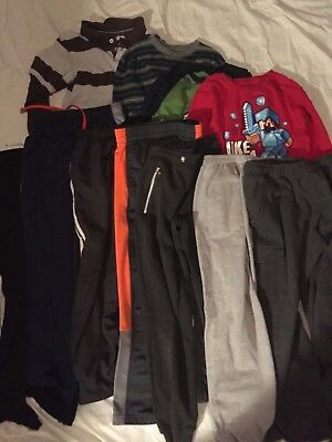 HUGE LOT Boys clothes medium 10/12, sweatpants athletic pants shirts,11 pieces