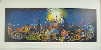 SIGNED Charles Boyer Main Street Electrical Parade 390/3000 Disney Poster Print