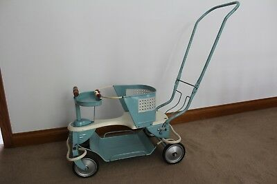 Vintage Antique Taylor Tot Blue Baby Stroller  Complete in great condition