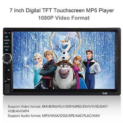 Touch Screen Car MP5 Player Bluetooth Stereo FM Radio USB/TF AUX In NEW WW