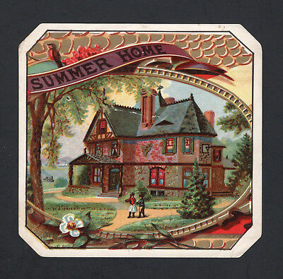 1880s Lithographers Sample Cigar Label - SUMMER HOME