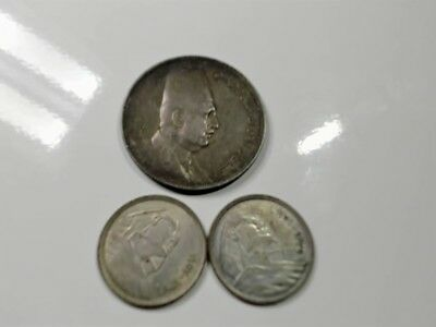 Egypt  Faud And Pharroh  Silver Coin Lot......#16