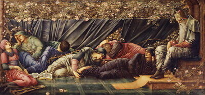 Edward Coley Burne Jones The Council Chamber Giclee Canvas Print  Poster