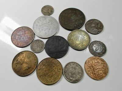 India  And  Near  Provences  13 Coins...better  Grade......#18