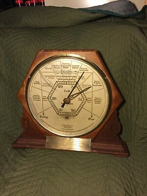Rare Large Antique Mahogany Frame Short & Mason London Stormoguide Barometer