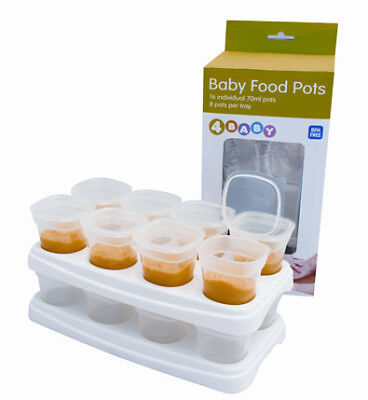4Baby Food Pots 70ml 2 Trays Of 8 Pots