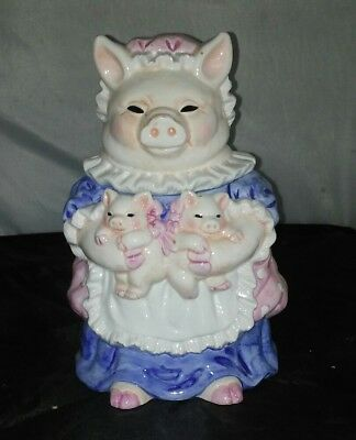Collectible Mama Pig by Heritage Mint LTD Mama & Two Piglets Cookie Jar ( Rare )