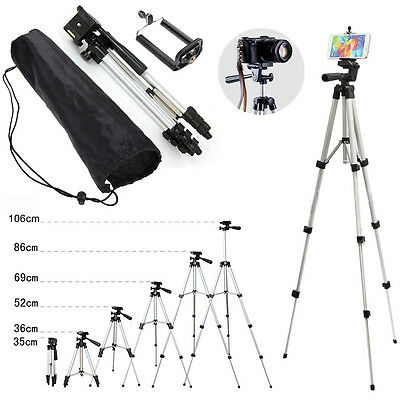 Professional Camera Tripod Stand Mount +Phone Holder +Bag For Mobile Cell Phones
