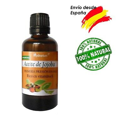 Aceite de Jojoba virgen, orgánico 30 ml. Organic Jojoba oil 30 ml - 1fl.oz
