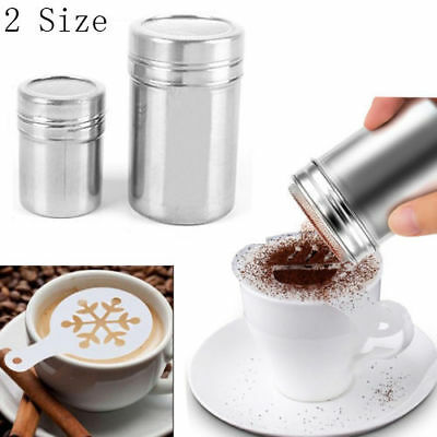 Stainless Steel Shaker Icing Sugar Salt Cocoa Flour Chocolate Coffee Sifter