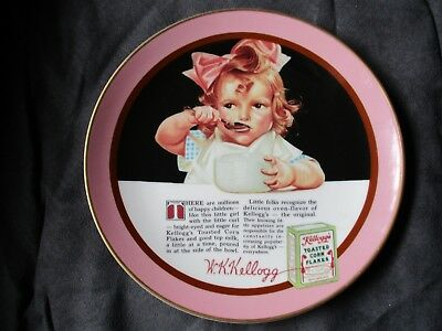 """Kellogg's  Collector Plate """"Girl With the Pink Bow"""" 1988 Vtg."""