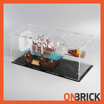 ONBRICK Premium Acrylic Display Case for LEGO 21313 Ship in a Bottle