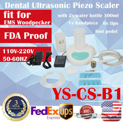 Ultrasonic Dental Piezo Scaler Portable Self Contained Water with 2 Bottle EMS