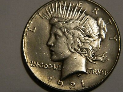 1921 Peace Dollar Two Face Coin  --- Lot #671