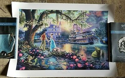 "Thomas Kinkade "" Princess and the Frog "" Signed & Numbered Disney Lithograph"