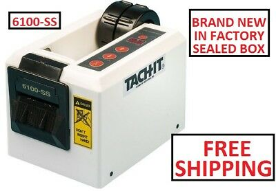 Tach-It 6100-SS Semi-Automatic Definite Length Tape Dispenser NEW FACTORY SEALED