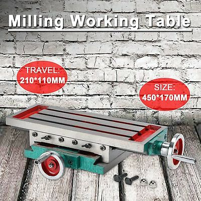 Cross Worktable Milling Working Sliding Table X Y Axis Bench Vise Drill Machine