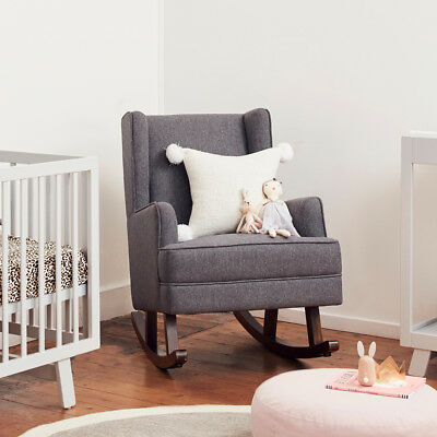 Bebecare Novello Breast Feeding Rocking Nursery Chair and Rocker Pavement Grey