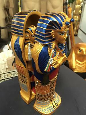 Vintage Unique Hand Made  Egyptian King Tut Coffin Made In Egypt