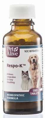 PetAlive Respo-K Tablets - Natural Homeopathic Formula for Pet Respiratory and