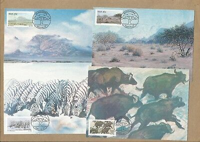 SWA: Full set 4 FDPostcards +  2 FDC (with Info cards) + 22 diff used. (Ref 879)