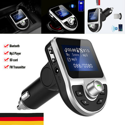 Bluetooth Car Kit Auto Radio KFZ Adapter FM Transmitter MP3 Player USB Ladegerät