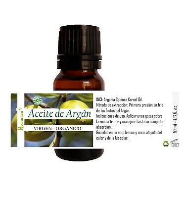 Aceite de Argán virgen, orgánico 10 ml. Virgin Argan oil, organic 1/3 fl.oz