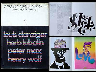 Graphic Designers In The Usa 1969 Edition Japonaise-Lubalin Danzinger Peter Max