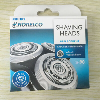 3X GENIUE Norelco Philips SH90 S9000 RQ12+ shaver Razor Replacement Blades Heads