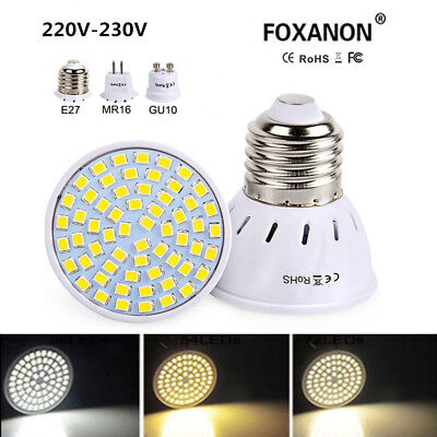 LED Bulb Spotlight 4W 6W 8W MR16 GU10 E27 2835 SMD Decor Lamp Light 110V 220V AI