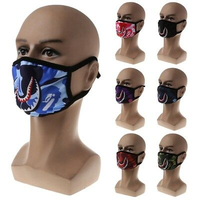 Anti-Fog Shark Mouth Flu Face Masks Unisex Surgical Respirator Mouth-muffle Mask