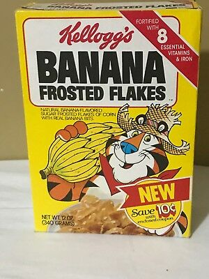 Vintage 1981 Kellogg's Banana Frosted Flakes Cereal Box
