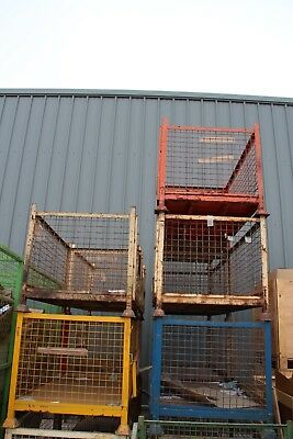 Steel Stillage Stackable Storage Container, Drop Down Front, Warehouse, Courier