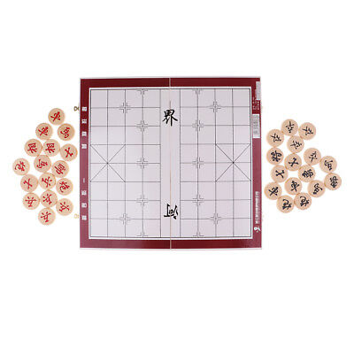 Portable Chinese Chess Set Foldable Board Game Chess Pieces Diameter 4.0cm