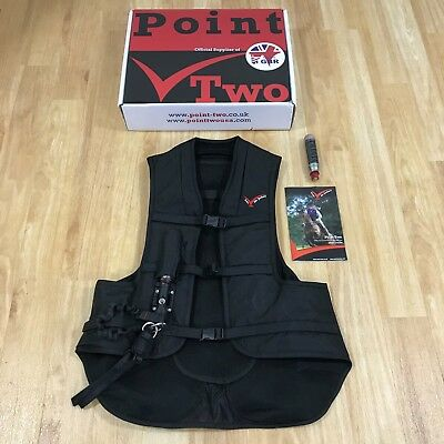 NEW POINT TWO Black 'Pro Air' Protective Jacket Equestrian Riding Size M 9161