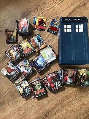 Doctor Who Battle In Time Trading Cards Collection (700+ with UR and Tardis case