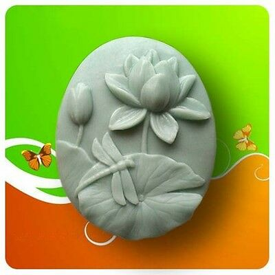 Lotus Dragonfly S082 Silicone Soap mold Craft Molds DIY Handmade soap mould