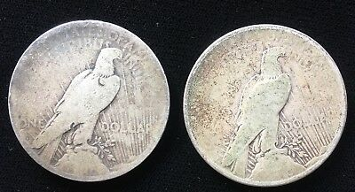 Two US Peace Dollars