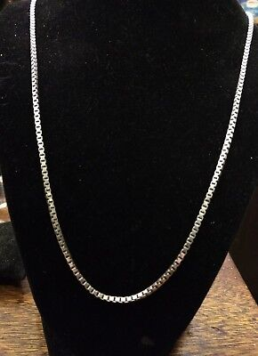 "David Yurman .925  Box Chain Necklace 22"" 2.7mm 18 Grams Lobster Clasp"