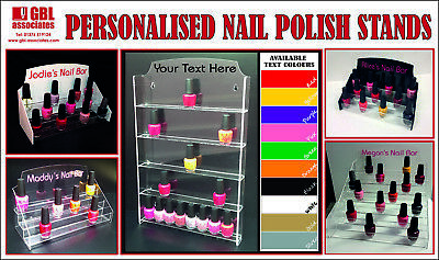 Personalised Nail Polish Stands